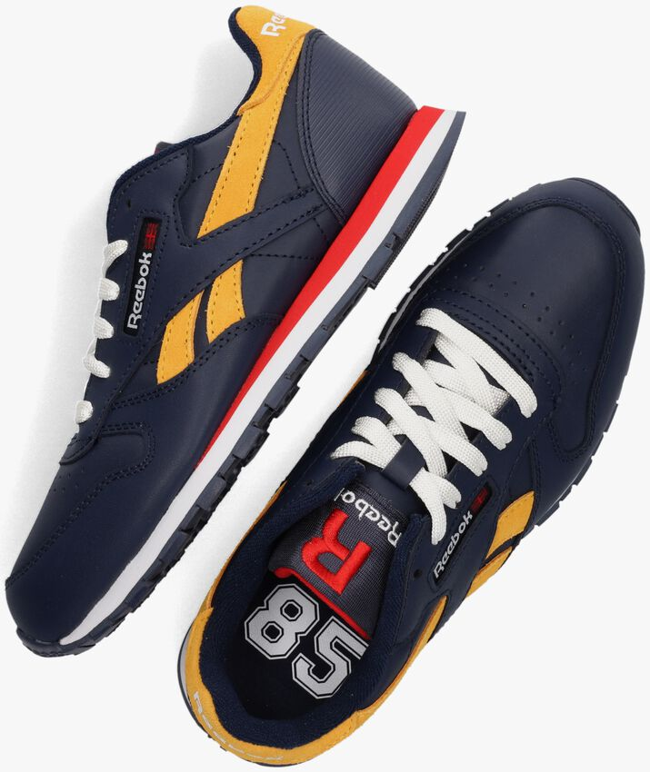 Blauwe REEBOK Lage sneakers CL LTHR  - larger