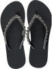 Zwarte UZURII Slippers FLOWER POWER  - small