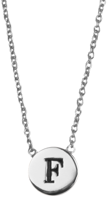 Zilveren ALLTHELUCKINTHEWORLD Ketting CHARACTER NECKLACE LETTER F - large