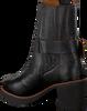 Zwarte SHABBIES Enkellaarsjes 182020175  - small