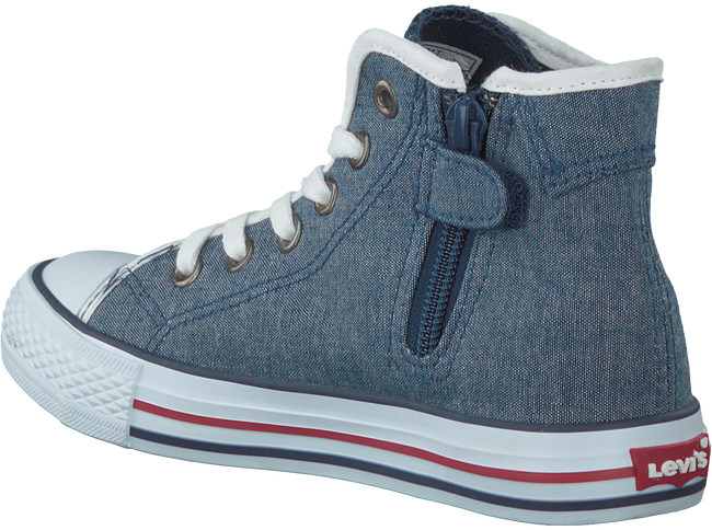 Blauwe LEVI'S Sneakers DUKE MG MID CHAMBRAY KIDS  - large