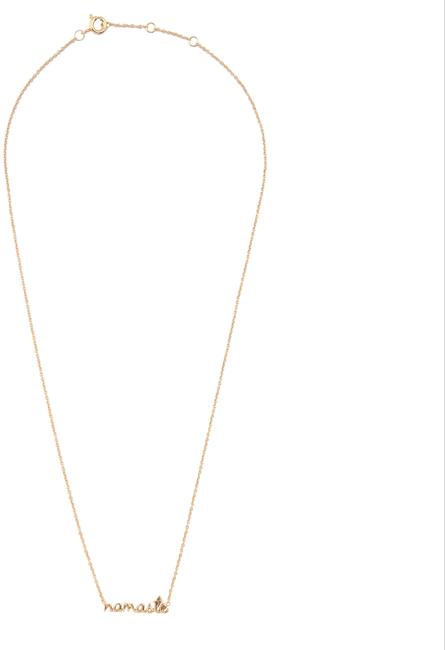 Gouden ALLTHELUCKINTHEWORLD Ketting URBAN NECKLACE NAMASTE - large