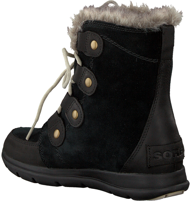 Zwarte SOREL Veterboots EXPLORER JOAN - large
