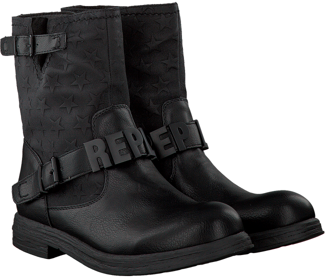Zwarte REPLAY Biker boots ABBA  - large