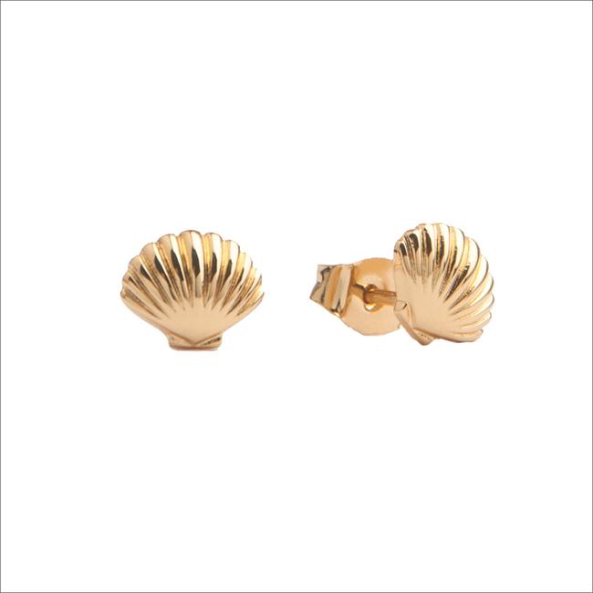 Gouden ATLITW STUDIO Oorbellen PARADE EARRINGS SEA SHELL - large
