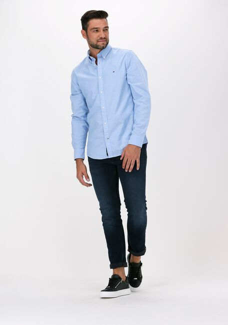 Blauwe TOMMY HILFIGER Casual overhemd CORE STRETCH SLIM OXFORD SHIRT  - large