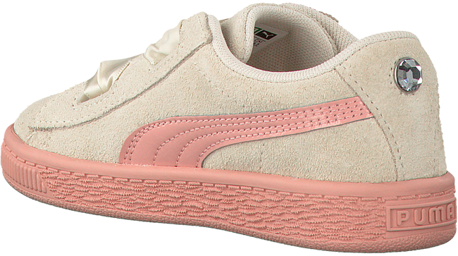 Beige PUMA Sneakers SUEDE HEART JEWEL INF  - large