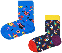 Multi HAPPY SOCKS Sokken 2-PACK KIDS SPACE CAT  - medium