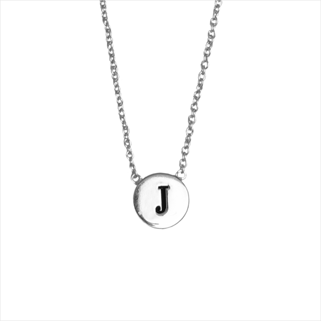 Zilveren ATLITW STUDIO Ketting CHARACTER NECKLACE LETTER SILV - large