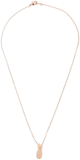 Gouden ALLTHELUCKINTHEWORLD Ketting ELEMENTS NECKLACE TALL PINEAPP - large