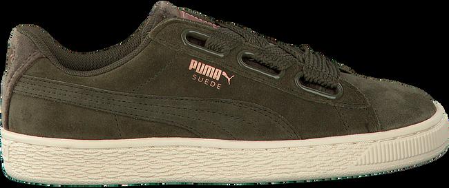 Groene PUMA Sneakers SUEDE HEART VR DAMES  - large