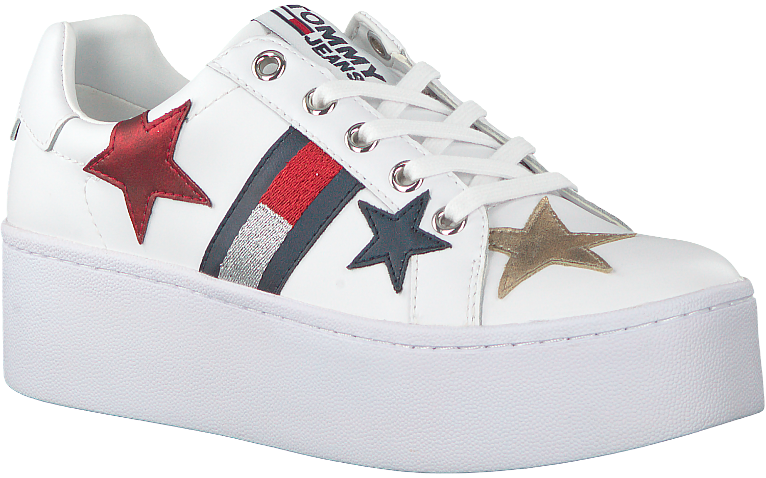 Witte Omoda Icon Sneakers Tommy Hilfiger nl Sparkle Jeans q6vrHqBTw