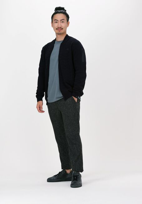 Donkerblauwe VANGUARD Vest BOMBER JACKET COTTON POLYAMIDE - large