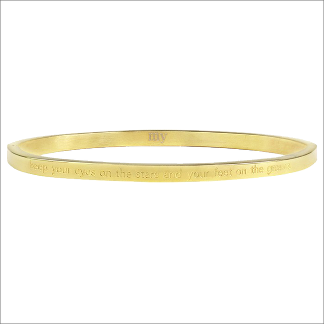 Gouden MY JEWELLERY Armband KEEP YOUR EYES ON THE STARS - large