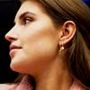 Gouden ATLITW STUDIO Oorbellen CHARACTER EARRINGS LETTER GOLD - small