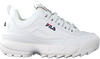 Witte FILA Lage sneakers DISRUPTOR KIDS  - small