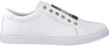Witte TOMMY HILFIGER Sneakers ICONIC METALLIC ELASTIC SNEAKE  - small