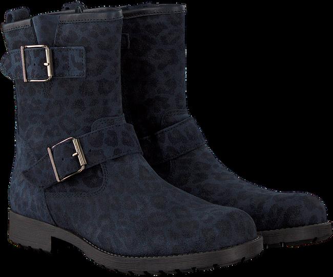 Blauwe CLIC! Biker boots 8383 - large