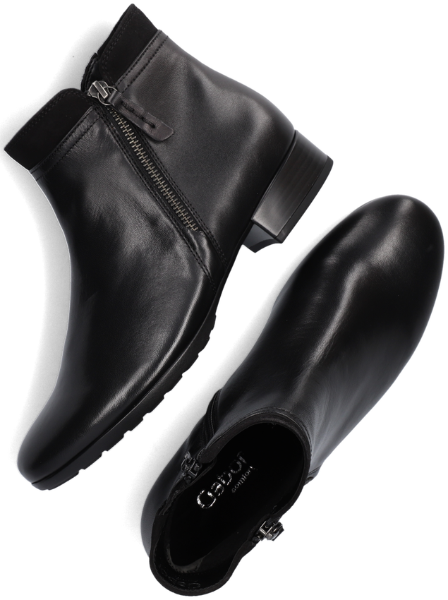 Zwarte GABOR Enkellaarsjes 718  - larger