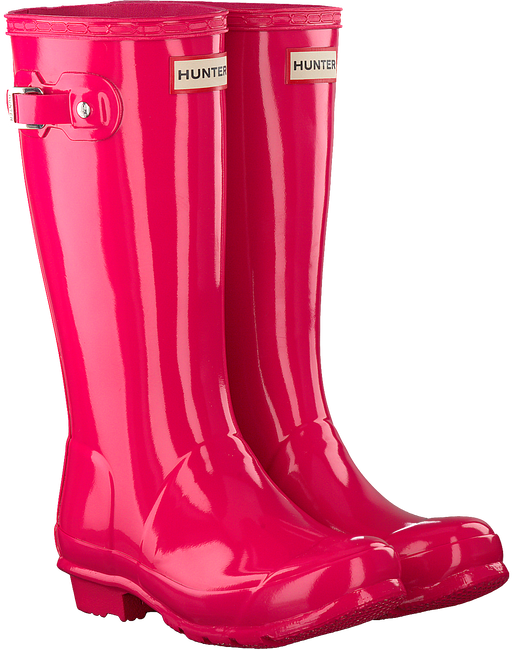 Roze HUNTER Regenlaarzen ORIGINAL KIDS GLOSS - large