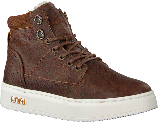 Cognac OMODA Hoge sneaker O2586  - large