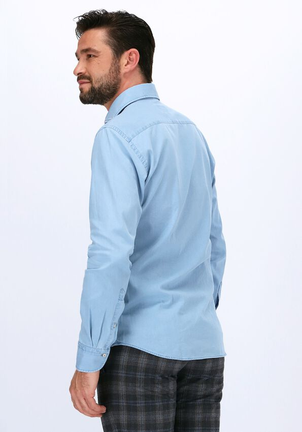 Lichtblauwe PROFUOMO Casual overhemd HOLTONS  - larger