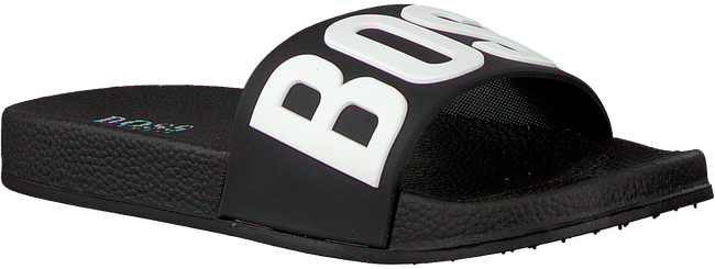 Zwarte BOSS KIDS Badslippers CHINELO  - large