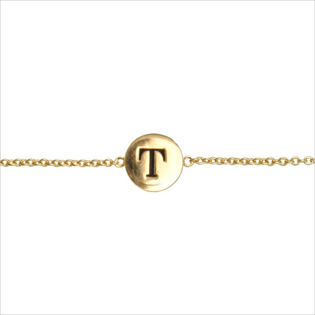 Gouden ALLTHELUCKINTHEWORLD Armband CHARACTER BRACELET LETTER GOLD - large
