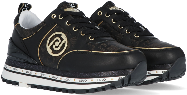 Zwarte LIU JO Lage sneakers LIUJO MAXI WONDER 19  - large