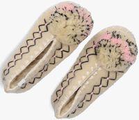 Beige GIVE A POM Pantoffels SOFIA  - medium
