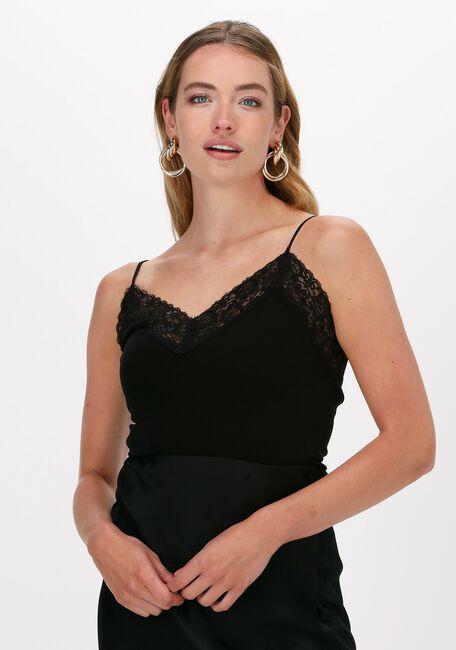 Zwarte SELECTED FEMME Top SLFMANDY RIB LACE SINGLET NOOS - large