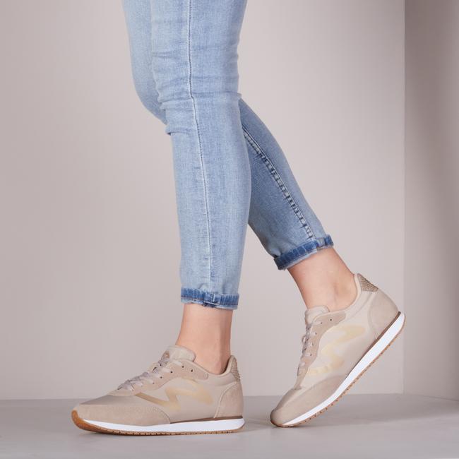 Beige WODEN Lage sneakers OLIVIA METALLIC  - large