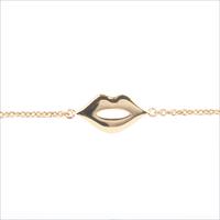 Gouden ATLITW STUDIO Armband SOUVENIR BRACELET LIPS - medium