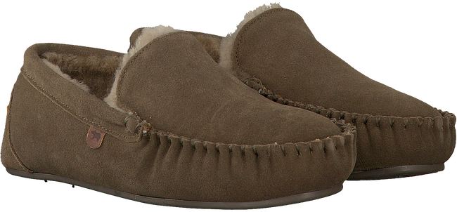 Groene WARMBAT Pantoffels MALMO MEN SUEDE  - large