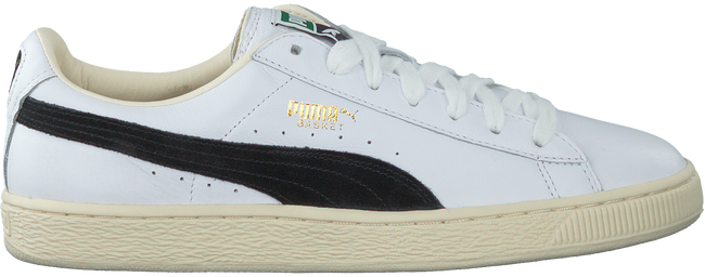 Witte PUMA Sneakers BASKET CLASSIC B&W  - large