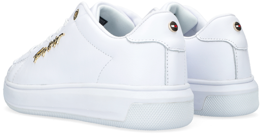 Witte TOMMY HILFIGER Lage sneakers SIGNATURE  - larger