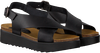 Zwarte RED-RAG Sandalen 78068  - small