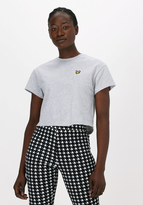 Lichtgrijze LYLE & SCOTT T-shirt CROPPED T-SHIRT  - larger