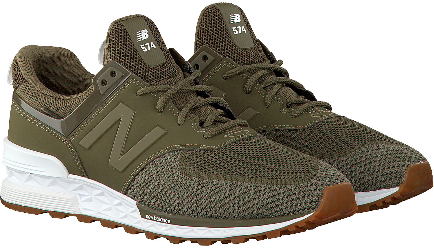 groene new balance sneakers ms 574 heren