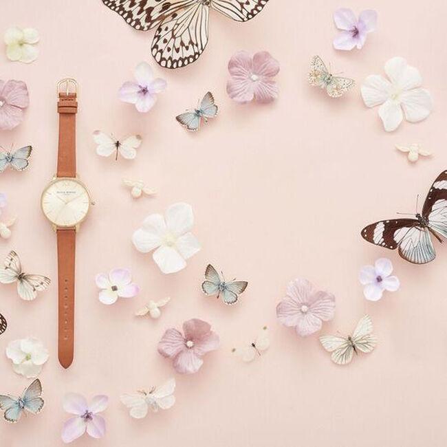 Bruine OLIVIA BURTON Horloge BIG DIAL - large