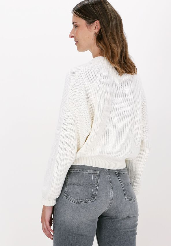 Witte TOMMY JEANS Trui TJW CENTER FLAG SWEATER - larger