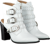 Witte BRONX Enkellaarsjes BAMERICANAX  - small
