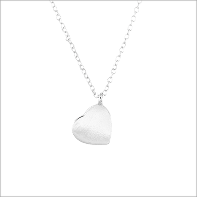 Grijze ALLTHELUCKINTHEWORLD Ketting FORTUNE NECKLACE HEART - large