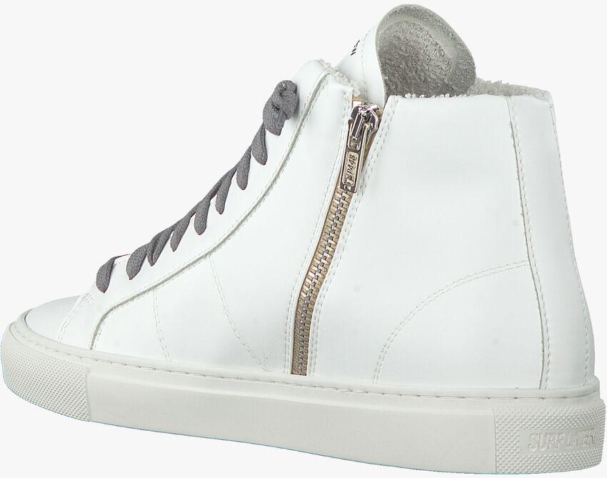 Witte P448 Hoge sneaker STAR WOMAN  - larger