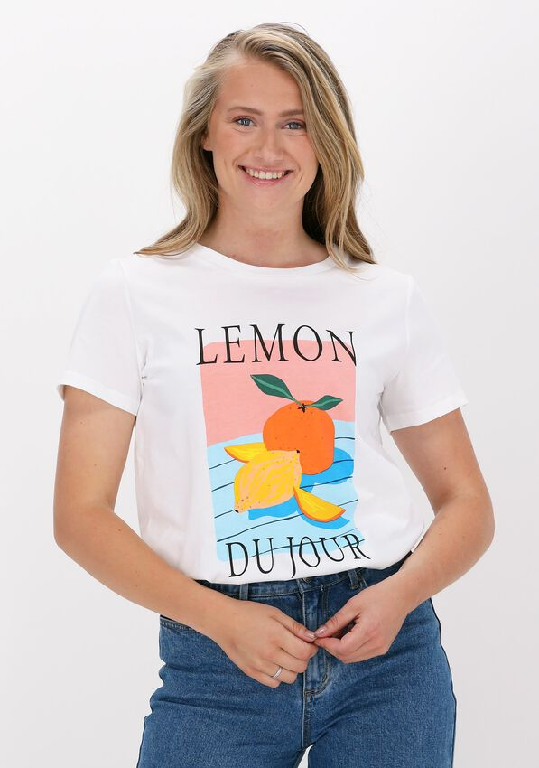Witte NEO NOIR T-shirt PARVA FRUIT TEE - larger