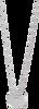 Zilveren LOTT. GIOIELLI Ketting KETTING LETTER - small