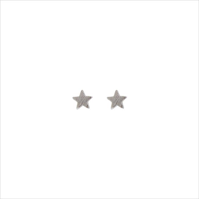 Zilveren ALLTHELUCKINTHEWORLD Oorbellen PETITE EARRINGS STAR - large