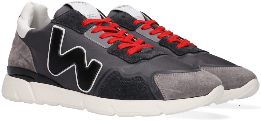 Grijze WOMSH Lage sneakers RUNNY  - larger