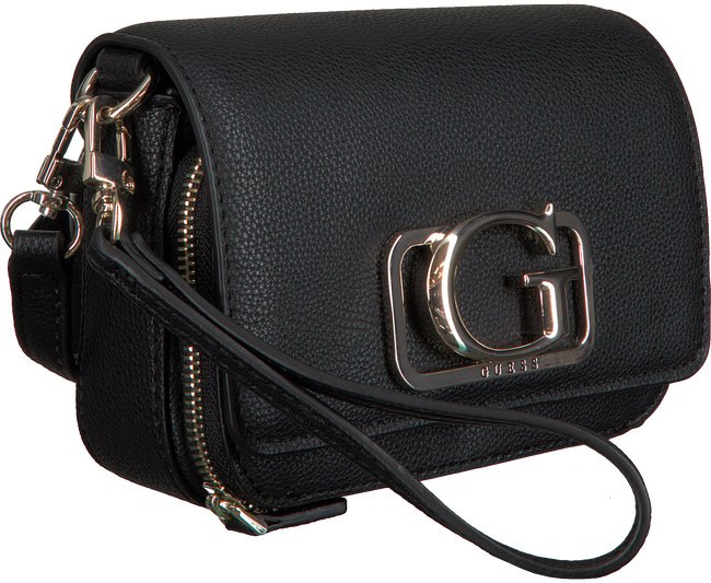 Zwarte GUESS Schoudertas ANNARITA MINI CROSSBODY FLAP  - large