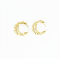 Gouden NOTRE-V Oorbellen OORBEL DRIE RINGEN  - medium